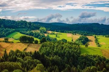 Panel Szklany Podświetlane Wiejski Poland Bieszczady Landscape