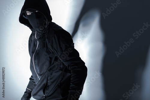 Robber in Black Mask Fototapet