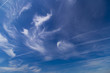 canvas print picture - Daytime sky with cirrus and stratus clouds