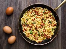 Rustic Italian  Spaghetti Carbonara