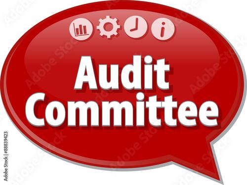 Fotografie, Obraz  Audit Committee Finance Business term speech bubble illustration