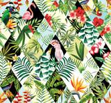 bezszwowe tło tropikalny patchwork - 88842609