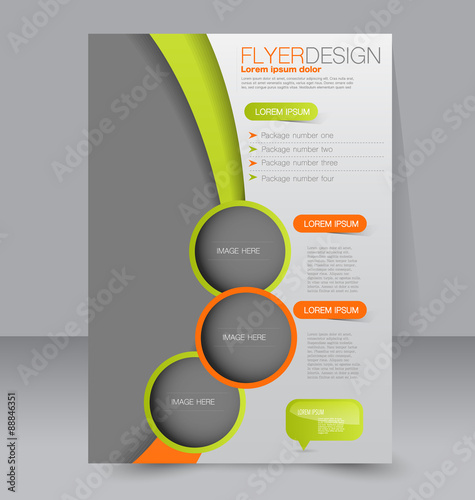 Editable poster template