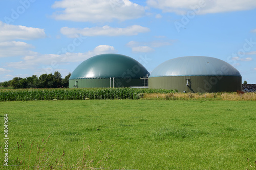 bio gas plant, renewable Resources for renewable energy Wallpaper Mural