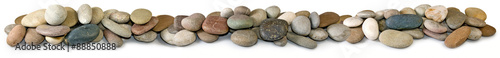 Fotomural  stones on a white background