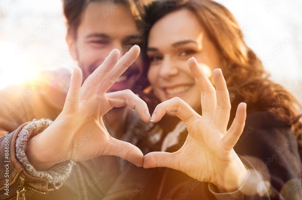 Fototapeta Heart and love