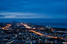 Twilight Hua Hin Cityscape View At Hin Lek Fai Viewpoint
