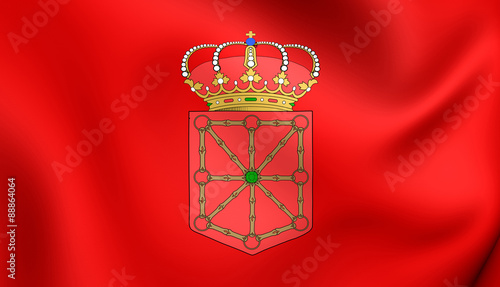 Flag of Navarra, Spain.