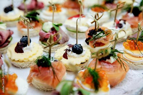 Foto Fingerfood bei einer Hochzeit