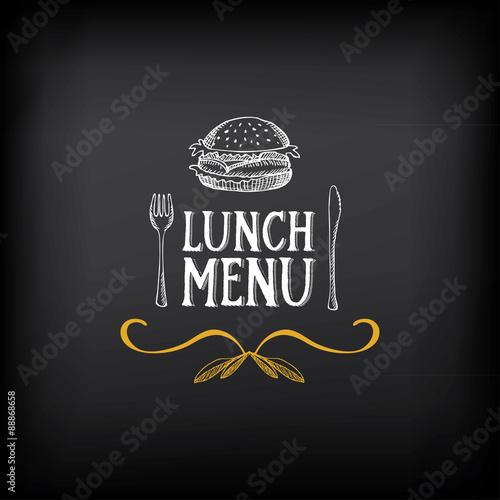 Fotografía  Lunch menu logo and badge design.