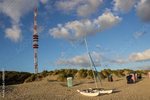 Foto op Plexiglas Historisch geb. Katamaran vorm Funkturm