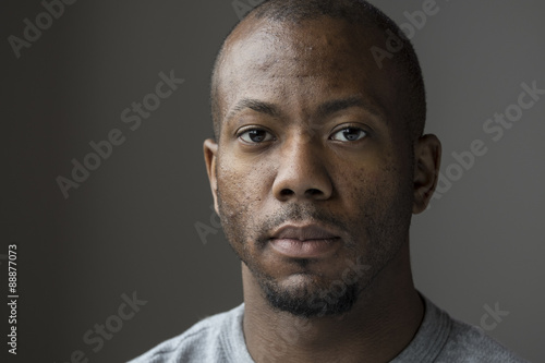 Studio portrait of an African American man