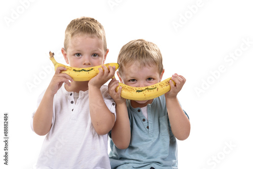 Photo Stands Grocery kinderen lachen met de banaan