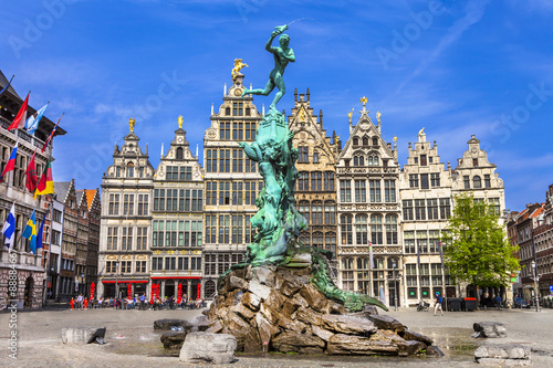 Photo Stands Antwerp Traditional flemish architecture in Belgium - Antwerpen city
