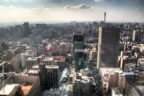 View from the Carlton towers over downtown Johannesburg in South Africa