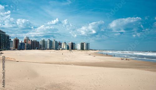 Staande foto Stad aan het water Punta del Este beach in Uruguay, Atlantic Coast