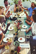 Diverse Friends People Group Eating Food Concept