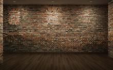 Empty Room With Brick Walls