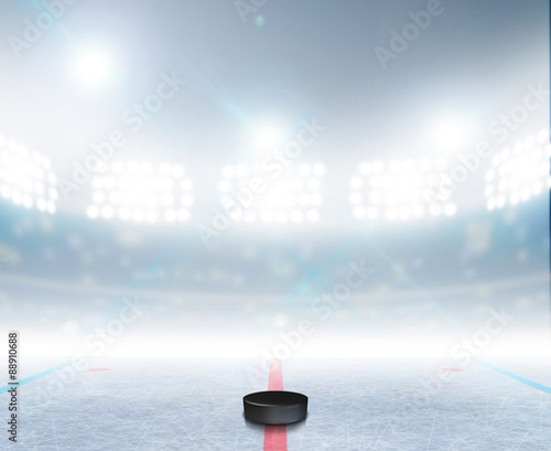 Ice Hockey Rink Stadium Canvas Print