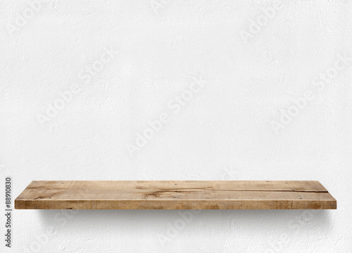 Fotografía  Wood plank shelf