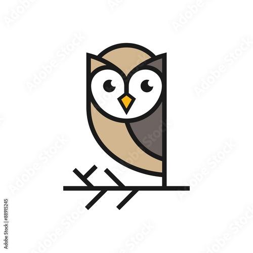 Canvas Prints Owls cartoon Owl Logo Template