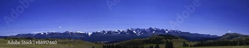 Fotobehang Donkerblauw Panorama of North-Chuya ridge in the Altai Mountains