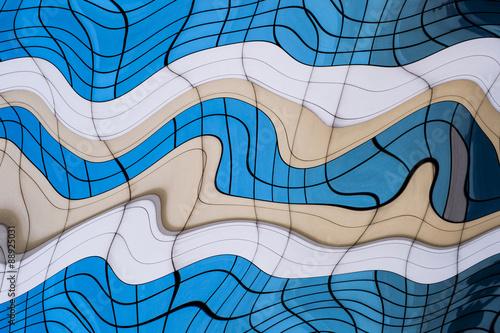 Fotografie, Obraz  Geometric distorted background.