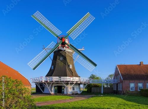 Poster Molens Neuharlingersiel Seriemer Muehle - windmill Neuharlingersiel 01