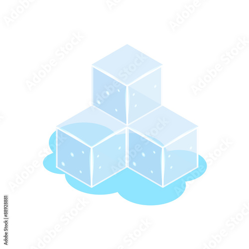 Ice cube icons isometric - Buy this stock vector and explore
