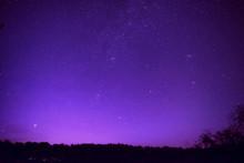 Beautiful Purple Night Sky With Many Stars