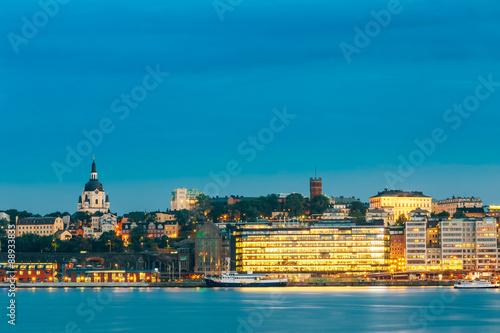 Foto  Embankment In Stockholm At Summer Day, Sweden