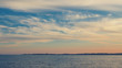 Beautiful cloudscape and the sea, with retro colors