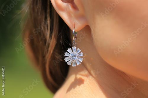 Photo Earring with diamond