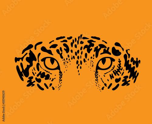 Leopard, jaguar Fototapet
