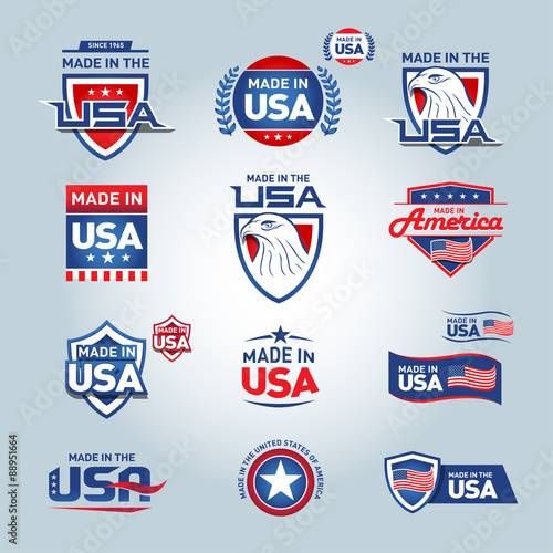 Photographie  USA and made in USA icons