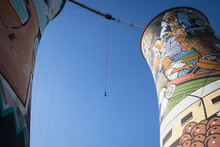 Guy Bungee Jumping From The Orlando Towers In Soweto, A Township Of Johannesburg In South Africa.