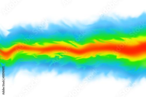 Fotografie, Obraz  Fluid dynamics / mechanics simulation CGI imagery on white background