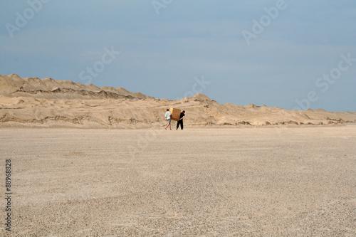Staande foto Zandwoestijn porters