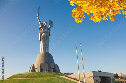Photo Stands Kiev Mother Motherland monument in Kiev, Ukraine