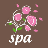 vector logo flowers for spa salon