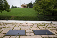 John F. Kennedy And Jackie Onassis Graves At Arlington National Cemetery