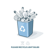 Used Light Bulbs In Recycling ...