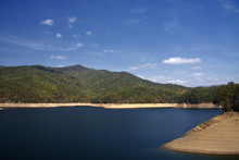 Fontana Lake With Low Water Levels