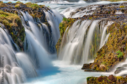 Detail of the Bruarfoss in Iceland - 89007856