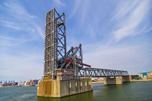 Drawbridges In Port Of Antwerp, Belgium