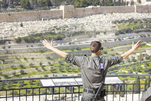 Happy Soldier In  Jerusalem
