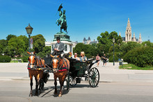 Vienna, Fiaker Ride, Heldenplatz