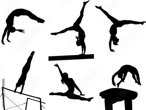 Photo  Gymastic Silhouettes