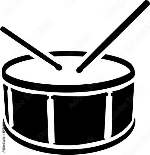 Drum symbol with sticks Fototapete