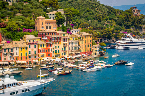 Poster Ligurie PORTOFINO, ITALY - JULY 2015 - A view of the town